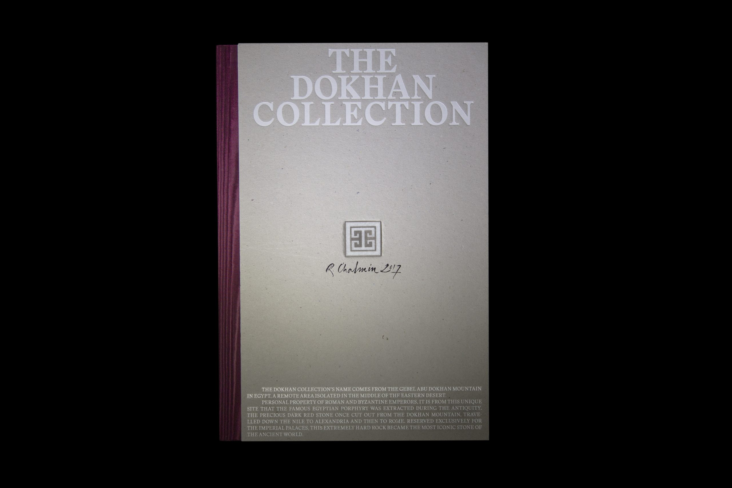 Regular Animal creates a book for The Dokhan Collection, a compilation of The Dokhan Company's work, founded by Raphaël Chalmin.